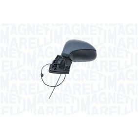 MAGNETI MARELLI Side view mirror Left, Mechanical, Complete Mirror, Convex, Primed