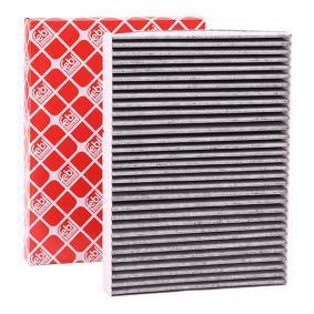 Filter, Innenraumluft Länge: 281mm, Breite: 206,0mm, Höhe: 30mm mit OEM-Nummer 1H0 091 800