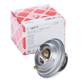 FEBI BILSTEIN Thermostat, Kühlmittel 14771 für AUDI A6 (4B2, C5) 2.4 ab Baujahr 07.1998, 136 PS