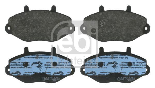 FEBI BILSTEIN  16036 Bremsbelagsatz, Scheibenbremse Breite: 71,8mm, Dicke/Stärke 1: 18,8mm