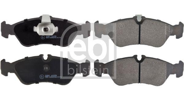 FEBI BILSTEIN  16160 Bremsbelagsatz, Scheibenbremse Breite: 55,4mm, Dicke/Stärke 1: 18,1, 18,5mm