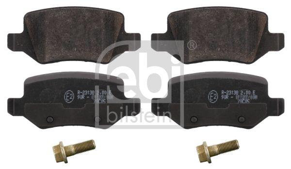 FEBI BILSTEIN  16525 Brake Pad Set, disc brake Width: 41,5mm, Thickness 1: 14,3mm
