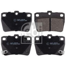 Brake Pad Set, disc brake 16723 RAV 4 II (CLA2_, XA2_, ZCA2_, ACA2_) 2.0 MY 2001