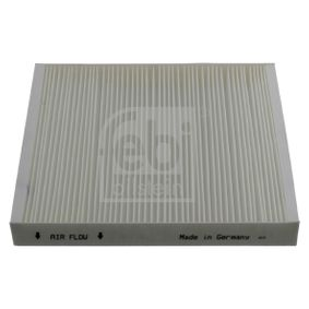 Filter, interior air Length: 248mm, Width: 216,0mm, Height: 32mm with OEM Number 6Q0 820 367