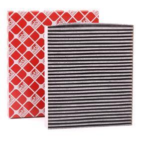 Filter, Innenraumluft Länge: 248mm, Breite: 216,0mm, Höhe: 30mm mit OEM-Nummer 6Q0819653