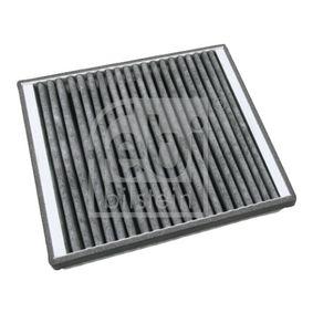 Filter, Innenraumluft Länge: 234mm, Breite: 204,0mm, Höhe: 40mm mit OEM-Nummer 163 835 01 47