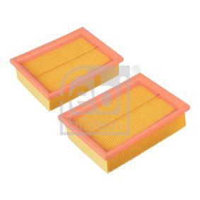 Luftfilter Länge: 190mm, Breite: 140,0mm, Höhe: 55mm mit OEM-Nummer 030 198 620