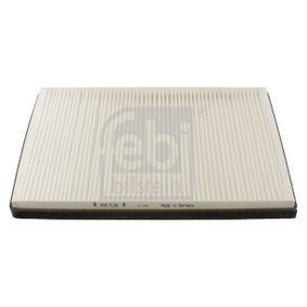 Filter, Innenraumluft Länge: 360mm, Breite: 245,0mm, Höhe: 35mm mit OEM-Nummer 2E0819638