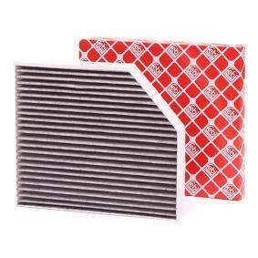 Filter, Innenraumluft Länge: 280mm, Breite: 240,0mm, Höhe: 34,5mm mit OEM-Nummer 8K0 819 439 A