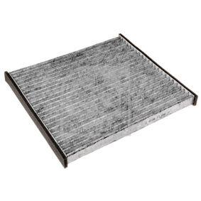 FEBI BILSTEIN  34558 Filter, interior air Length: 207mm, Width: 195,0mm, Height: 18mm