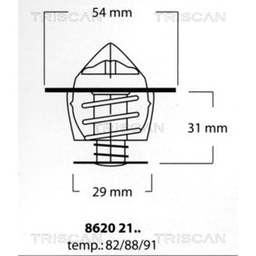 Thermostat, Kühlmittel mit OEM-Nummer MD-050457