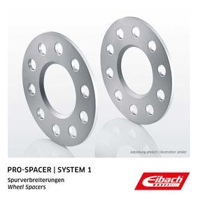 EIBACH Spurverbreiterung S90-1-08-002 für AUDI A3 (8P1) 1.9 TDI ab Baujahr 05.2003, 105 PS