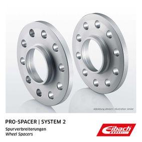 EIBACH Pro-Spacer S90-2-10-021 Spurverbreiterung Gewindemaß: M12x1,25, Lochanzahl: 4, Lochkreis-Ø: 98mm, Spurverbreiterung pro Achse: 20mm