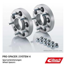 EIBACH Pro-Spacer S90-4-20-015 Spurverbreiterung Gewindemaß: M12x1,5, Lochanzahl: 5, Lochkreis-Ø: 100mm, Spurverbreiterung pro Achse: 40mm