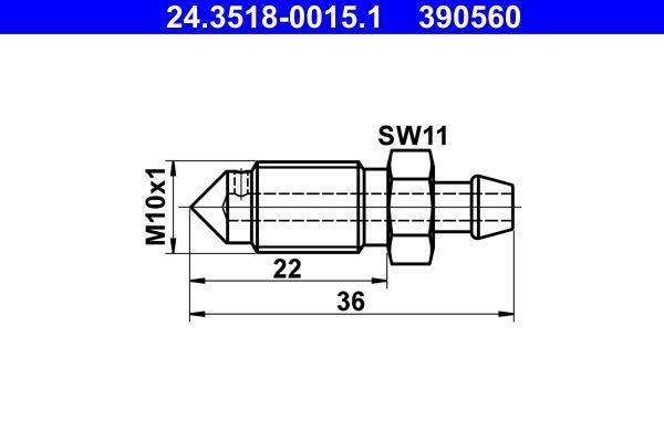 ATE  24.3518-0015.1 Entlüfterschraube / -ventil