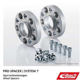 EIBACH Pro-Spacer S90-7-20-028 Spurverbreiterung Gewindemaß: M14x1,5, Lochanzahl: 5, Lochkreis-Ø: 100mm, Spurverbreiterung pro Achse: 40mm