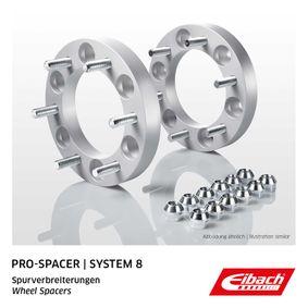 EIBACH Pro-Spacer S90-8-25-003 Spurverbreiterung Gewindemaß: M12x1,25, Lochanzahl: 6, Lochkreis-Ø: 139,7mm, Spurverbreiterung pro Achse: 50mm