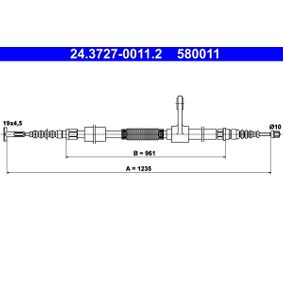 Cable, parking brake Article № 24.3727-0011.2 £ 150,00