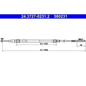 Seilzug, Feststellbremse 24.3727-0231.2 X5 (E53) 3.0 d Bj 2006