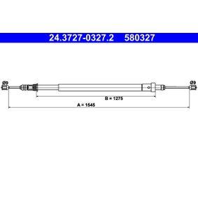 Cable, parking brake Length: 1545mm, Length: 1545mm, Length: 1545mm, Length: 1545mm with OEM Number 4745 K1