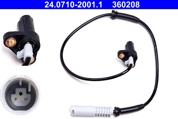 ATE  24.0710-2001.1 Sensor, Raddrehzahl Länge: 635mm