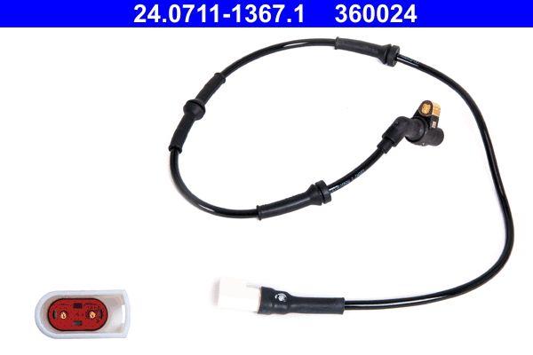 ATE  24.0711-1367.1 Sensor, Raddrehzahl Länge: 875mm