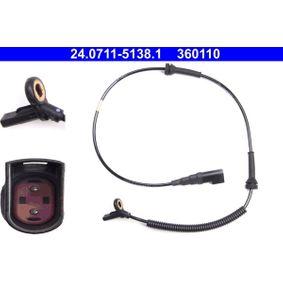 Sensor, Raddrehzahl Länge: 775mm mit OEM-Nummer 2S612B3-72AD