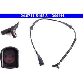 Sensor, Raddrehzahl Länge: 602mm mit OEM-Nummer 4370937