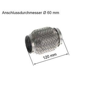 HJS  83 00 8522 Flexrohr, Abgasanlage Innendurchmesser: 60mm