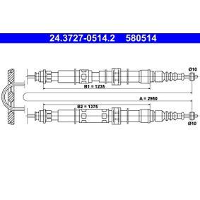 Cablu, frana de parcare Articol № 24.3727-0514.2 570,00RON