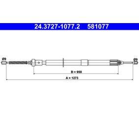 Renault Twingo 2 1.2 (CN0D) Handbremsseil ATE 24.3727-1077.2 (1.2 Benzin 2008 D7F 800)