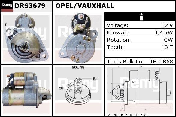 Image of DELCO REMY Motorino d'avviamento 5414352278003
