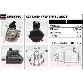 Motorino d'avviamento (DRS8960) per per Motorino D'avviamento FIAT DUCATO Pianale piatto/Telaio (230) 2.8 TDI dal Anno 12.1998 122 CV di DELCO REMY