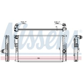 Radiator, engine cooling 61673 COUPE (FA/175) 2.0 20V Turbo MY 1998