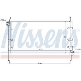 NISSENS  94532 Kondensator, Klimaanlage Netzmaße: 616 x 308 x 16 mm