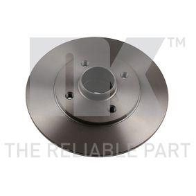 Bremsscheibe Bremsscheibendicke: 8,00mm, Felge: 4,00-loch, Ø: 238mm mit OEM-Nummer 7700805148