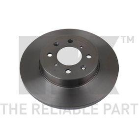 Спирачен диск дебелина на спирачния диск: 13,00мм, джанта: 4,00-дупки, Ø: 261,50мм с ОЕМ-номер SDB000440