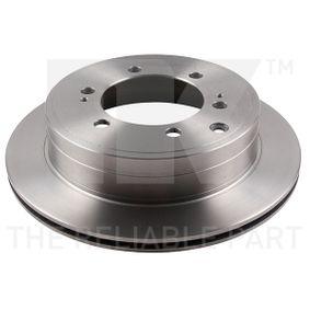 Disque de frein Épaisseur du disque de frein: 18mm, Jante: 6Trou, Ø: 312mm avec OEM numéro 42431-60190
