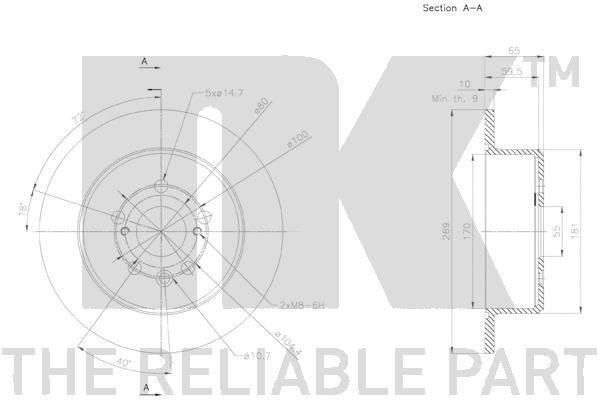 Disque de frein NK 2045144 connaissances d'experts