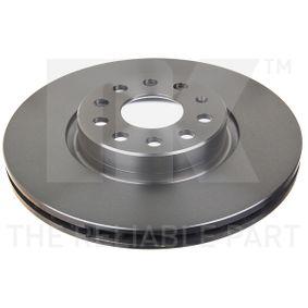 Disc frana Grosime disc frana: 25,00mm, Janta: 5,00-gaura, Ř: 312,00mm cu OEM Numar JZW615301H