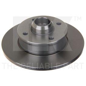 Bremsscheibe Bremsscheibendicke: 10mm, Felge: 4-loch, Ø: 226mm mit OEM-Nummer 191615601A