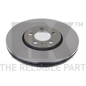 Bremsscheibe Bremsscheibendicke: 25,00mm, Felge: 5,00-loch, Ø: 288mm mit OEM-Nummer JZW615301D