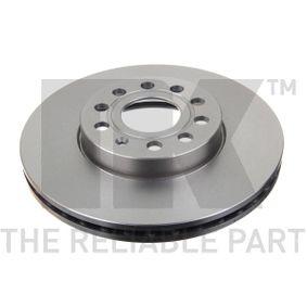 Bremsscheibe Bremsscheibendicke: 25mm, Felge: 5-loch, Ø: 288mm mit OEM-Nummer 5C0 615 301D