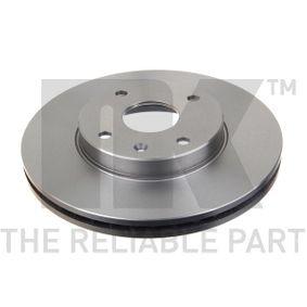Bremsscheibe Bremsscheibendicke: 24,00mm, Felge: 4,00-loch, Ø: 278mm mit OEM-Nummer 96329364