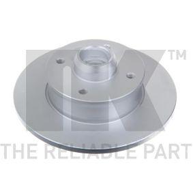 Bremsscheibe Bremsscheibendicke: 10mm, Felge: 4-loch, Ø: 226mm mit OEM-Nummer 191 501 639A