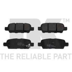 2011 Nissan Qashqai j10 1.6 Brake Pad Set, disc brake 222257