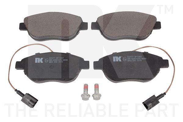NK  222377 Bremsbelagsatz, Scheibenbremse Breite 1: 136,80mm, Höhe 1: 54,70mm, Dicke/Stärke 1: 19,60mm