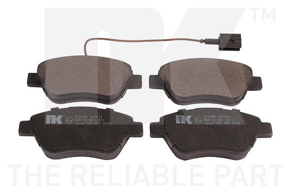 NK  222380 Bremsbelagsatz, Scheibenbremse Breite 1: 122,70mm, Höhe 1: 53,10mm, Dicke/Stärke 1: 17,00mm
