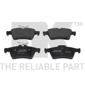2011 Mazda 3 BL 1.6 MZR CD Brake Pad Set, disc brake 222562