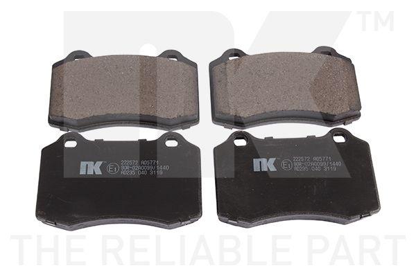 NK  222572 Bremsbelagsatz, Scheibenbremse Breite 1: 110mm, Höhe 1: 69,1mm, Dicke/Stärke 1: 17,7mm